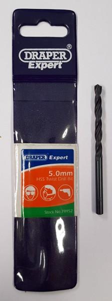 HSS TWIST DRILL BIT 5MM FROM DRAPER EXPERT