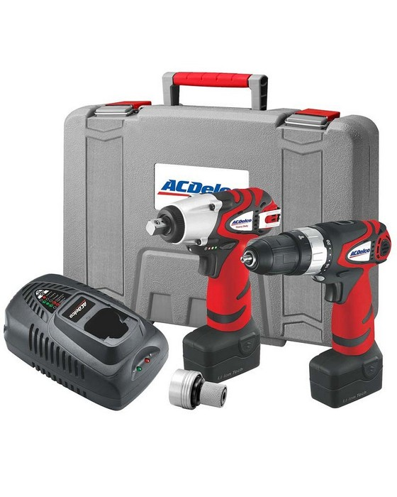 18V HAMMER DRILL + IMPACT WRENCH COMBI KIT FROM ACDELCO ARK2096I-3 <BR>