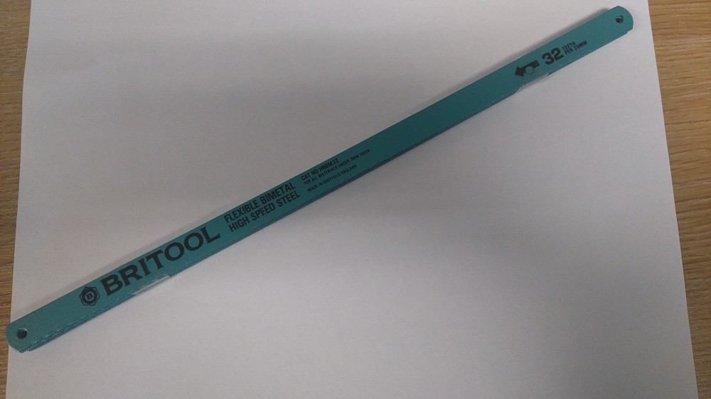 10 PACK OF FLEXIBLE BI-METAL HIGH SPEED STEEL HACKSAW BLADES 32 TPI BRITOOL ENGLAND