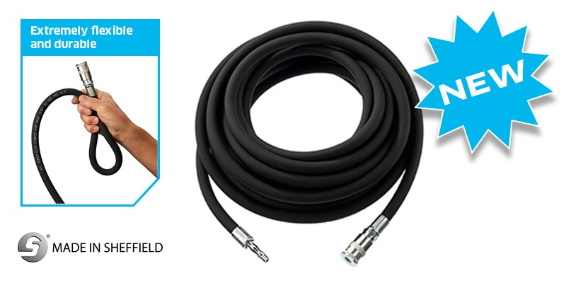 10 METER SUPERFLEX AIR HOSE WITH STANDARD ADAPTOR AND VERTEX COUPLING FROM PCL