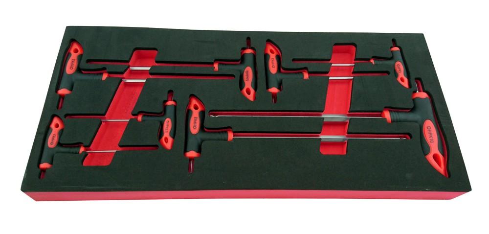 8 PIECE T-HANDLE ALLEN (HEX) KEY SET 2-10MM BRITOOL HALLMARK