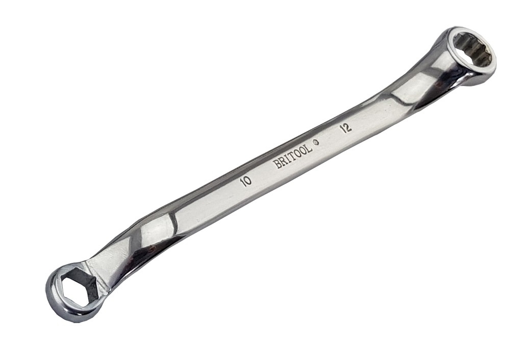 BRITOOL ENGLAND 12 x 14MM HEXAGON / BI-HEXAGON RING SPANNER WRENCH RHBM1214