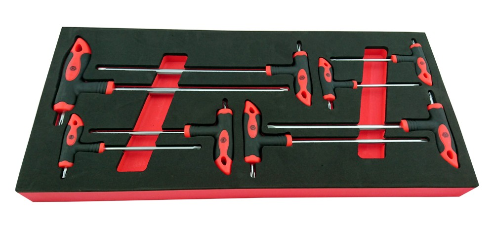 8 PIECE T-HANDLE TORX (TRX STAR) KEY SET T10-T50 BRITOOL HALLMARK