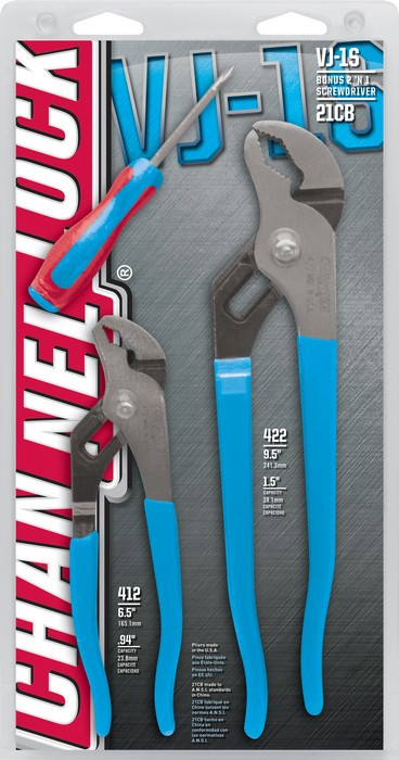 CHANNELLOCK CHLVJ-1S TONGUE & GROOVE PLIERS SET