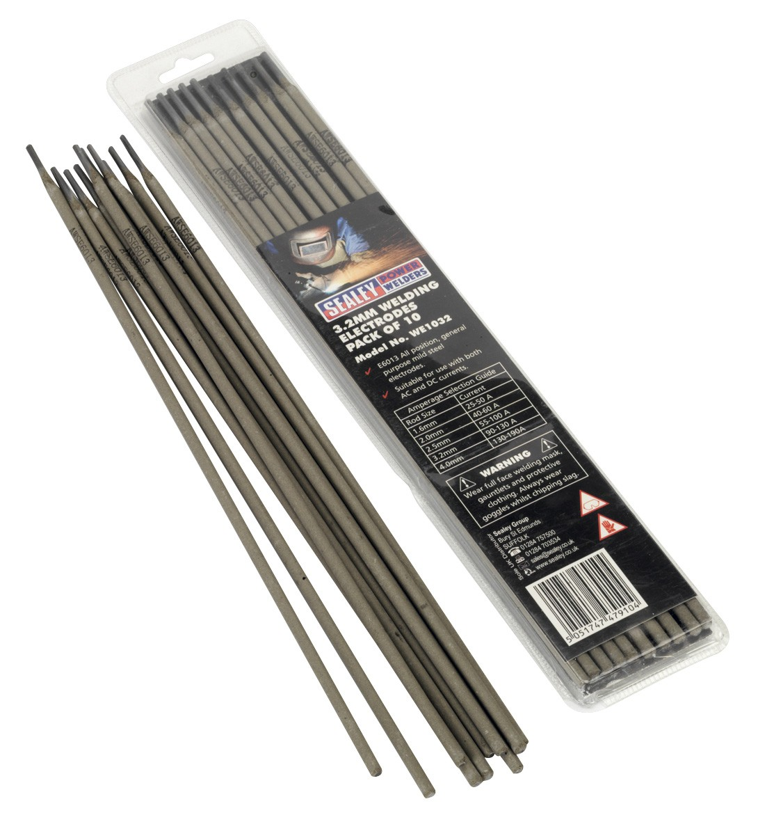 WELDING ELECTRODE DIA.3.2 X 300MM PACK OF 10 FROM SEALEY WE1032 SYSP