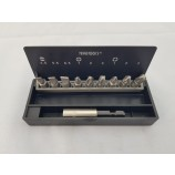 """10 PIECE 1/4"""" SLOTTED, PHILLIPS & POZI BIT SET WITH MAGNETIC BIT HOLDER FROM TENG TOOLS"""