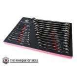 BRITOOL HALLMARK SPANNER SET CELMSET632 25 PIECE WRENCH SET IN FOAM TRAY 6-32MM