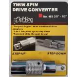 """CALVAN TOOLS TWIN SPIN DRIVE CONVERTER 3/8 - 1/2"""" CV488"""