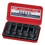 "GENIUS TOOLS TM-305 5 PIECE 3/8"" IMPACT SPLINE DRIVER SET"