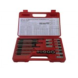BRITOOL HALLMARK HMEXS1 25PCS SCREW EXTRACTOR DRILL AND GUIDE SET