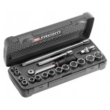FACOM TOOLS J.4APB 18PC 3/8 INCH SQ DR SOCKET SET