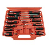 12 PIECE PHILLIPS & POZI SCREWDRIVER SET WITH HAMMER CAP BRITOOL HALLMARK