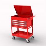 BRITOOL HALLMARK RED 4 DRAWER WORKSHOP TOOL TROLLEY TCART4R