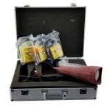 12V LEAK TRACER KIT WITH PIRANHA UV LIGHT, TRACER FLUIDS & PROTECTIVE GLASSES