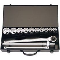 13 PIECE 3-4 INCH SQUARE DRIVE ELORA METRIC SOCKET SET