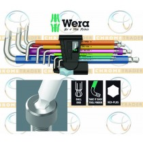 WERA HEXAGON KEY SET 9PC METRIC STAINLESS STEEL ALLEN KEYS 1.5-10MM WERA 3950/SPKL