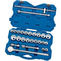DRAPER EXPERT 26 PIECE 3-4 INCH SQ. DR. MM/AF COMBINED SOCKET SET