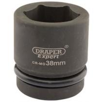 DRAPER EXPERT 38MM 1 INCH SQUARE DRIVE HI-TORQ® 6 POINT IMPACT SOCKET