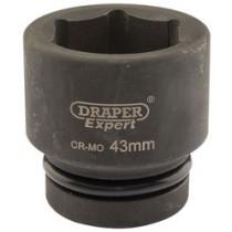 DRAPER EXPERT 43MM 1 INCH SQUARE DRIVE HI-TORQ® 6 POINT IMPACT SOCKET