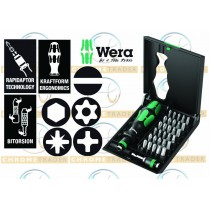 "1/4""D RAPIDAPTOR SCREWDRIVER AND BIT SET KRAFTFORM KOMPAKT 32PC FROM WERA TOOLS"