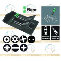 SCREWDRIVER & BIT SET 33 PC 89MM PZ,PH,TX,HEX KRAFTFORM KOMPAKT 62 FROM WERA