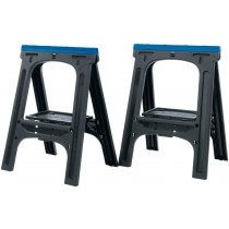 DRAPER 760 X 570MM PAIR OF FOLD-DOWN TRESTLES/SAW HORSES