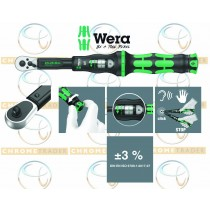 "WERA 1/4"" SD TORQUE WRENCH WITH REVERSIBLE RATCHET 2.5 - 25NM CLICK TORQUE A 5"