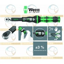 "WERA 1/4"" HEX DR TORQUE WRENCH WITH REVERSIBLE RATCHET 2.5 - 25NM CLICK TORQUE A 6"