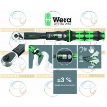 "WERA 3/8"" SD TORQUE WRENCH WITH REVERSIBLE RATCHET 10-50NM CLICK TORQUE B 1"