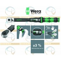 "WERA 1/2"" SD TORQUE WRENCH WITH REVERSIBLE RATCHET 20-100NM CLICK TORQUE C 2"