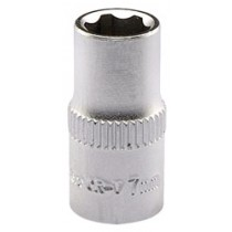 DRAPER EXPERT 7.0MM 1-4 INCH SQUARE DRIVE SATIN CHROME HI-TORQ® 6 POINT SOCKET