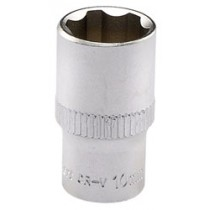 DRAPER EXPERT 10MM 1-4 INCH SQUARE DRIVE SATIN CHROME HI-TORQ® 6 POINT SOCKET