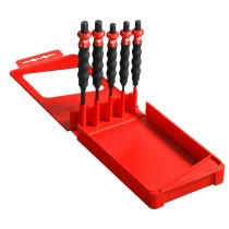 5 PIECE DRIFT PUNCH SET WITH ANTI VIBRATION GRIP FROM FACOM 249.GPB