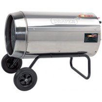 DRAPER JET FORCE, STAINLESS STEEL PROPANE SPACE HEATER WITH WHEELS - 102,000 BTU (30KW)