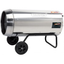 DRAPER JET FORCE, STAINLESS STEEL PROPANE SPACE HEATER WITH WHEELS - 136,000 BTU (40KW)
