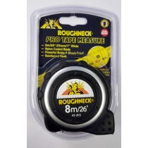 TAPE MEASURE 8 METERS METRIC & IMPERIAL ROUGHNECK 43-208