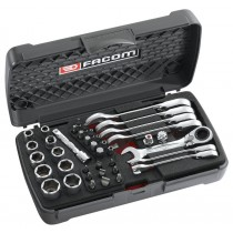 FACOM TOOLS 467S.BOXPB SHORT RATCHET WRENCH BOX SET