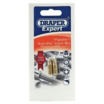 DRAPER EXPERT 2 X NO 2 PZ TYPE X 50MM X 1-4 INCH HEXAGON SHOT BLAST SCREWDRIVER BITS