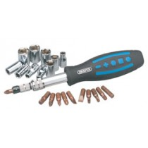 DRAPER 31 PIECE SOCKET AND BIT SET WITH FLEXIBLE SHAFT DRIVER
