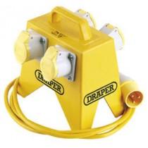 DRAPER 4 WAY JUNCTION BOX FOR 110V SITE TRANSFORMER