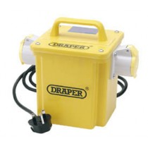 DRAPER EXPERT 1.5KVA 230V TO 110V 16A TWIN OUTLET PORTABLE TRANSFORMER