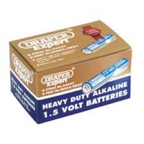DRAPER TRADE PACK OF 24 AAA-SIZE HEAVY DUTY ALKALINE BATTERIES
