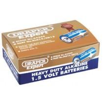 DRAPER TRADE PACK OF 12 C-SIZE HEAVY DUTY ALKALINE BATTERIES