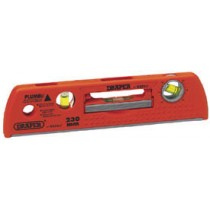 DRAPER 225MM PLUMB SITE® DUAL VIEW™ LEVEL WITH MAGNETIC BASE AND DETACHABLE MINI LEVEL