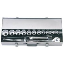 DRAPER 15 PIECE 3-4 INCH  SQ. DR. SILVERDRIVE® METRIC SOCKET SET