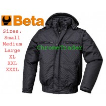 BETA 7780N PADDED WINTER COAT WITH DETACHABLE HOOD & SLEEVES (MEDIUM)