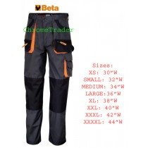 "BETA 7900E/XXXL MULTIPOCKET STYLE WORK TROUSERS XXXL (Waist size 42"")"