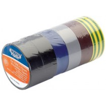 DRAPER EXPERT 6 X 10M X 19MM MIXED COLOURS INSULATION TAPE TO BSEN60454/TYPE2