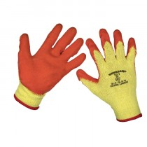 SUPER GRIP KNITTED GLOVES LATEX PALM FROM SEALEY (X-LARGE) PACK OF 12