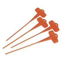 SEALEY AK391 APPLICATOR NOZZLE STOPPER PACK OF 4